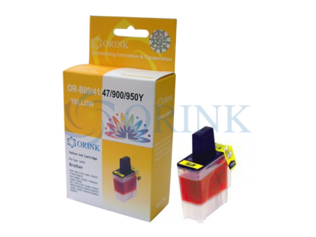 Cartus cerneala Brother LC950, LC900, LC47, LC41, LC09 Yellow, Compatibil