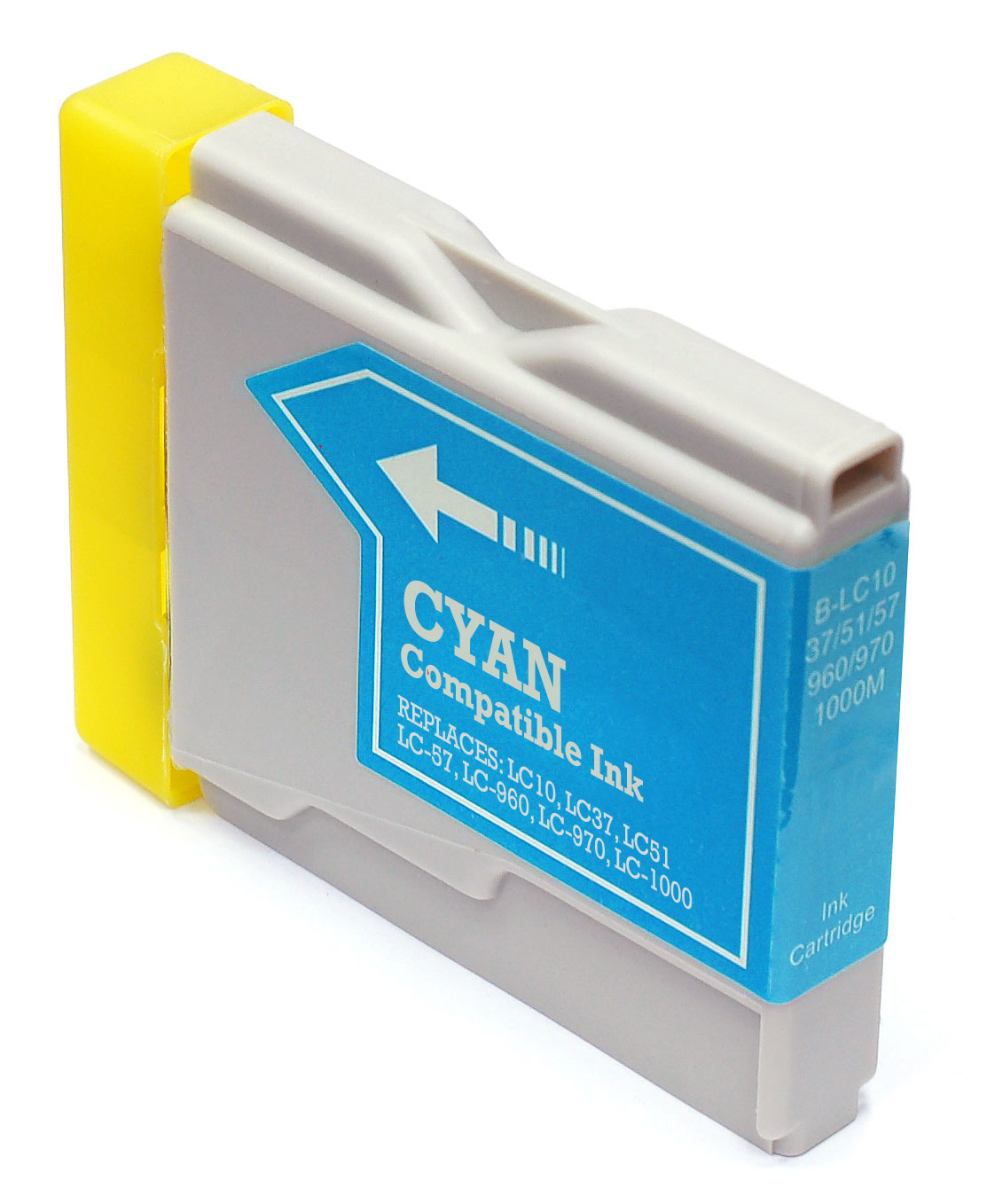 Cartus cerneala Brother LC10, LC37, LC51, LC57, LC960, LC970, LC1000 Cyan, Compatibil