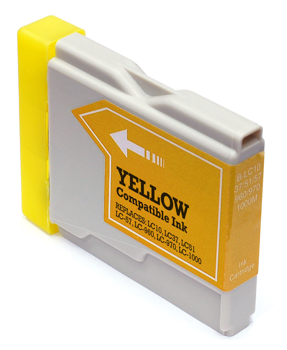 Cartus cerneala Brother LC10, LC37, LC51, LC57, LC960, LC970, LC1000 Yellow, Compatibil